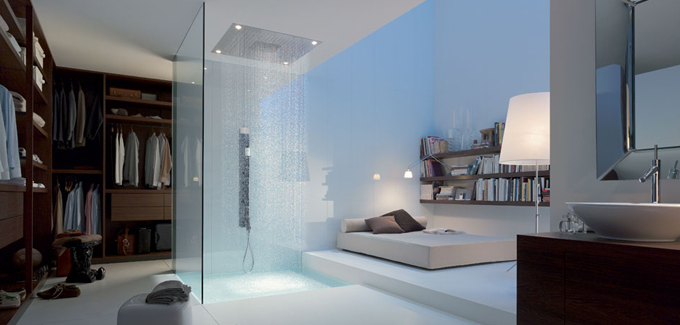 10 salles de bains ouvertes sur chambre, originales et audacieuses ... - Salle De Bain Ouverte Dans Chambre