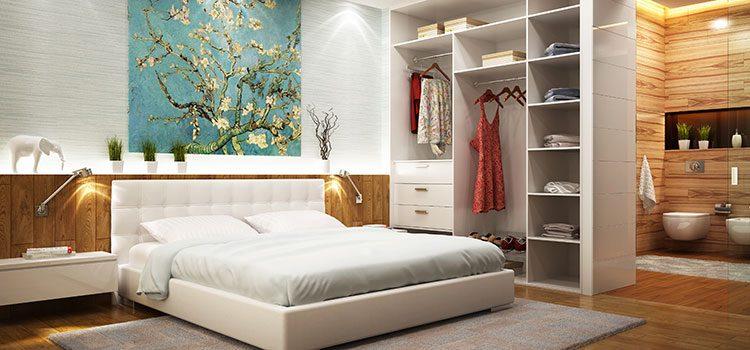 Chambre à coucher avec salle de bains