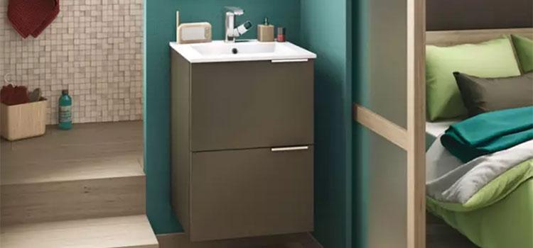Meuble salle de bains Kub 50 de Delpha
