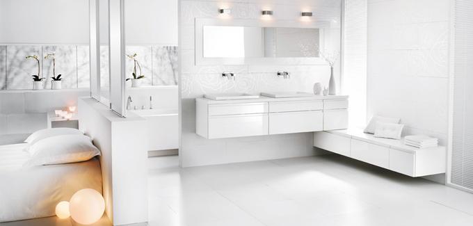 salle de bain ouverte sur chambre - Mobalpa
