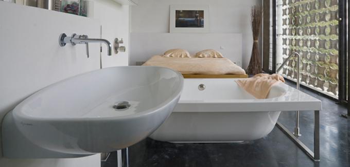salle de bain ouverte sur chambre - Du côté de chez vous