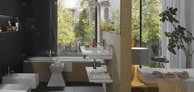 top 10 des salle de bains design ouvertes sur chambre blog d co salle de bains. Black Bedroom Furniture Sets. Home Design Ideas