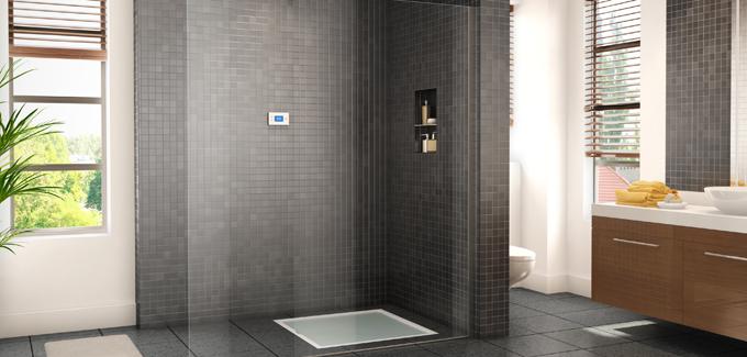 Douche recyclage d 39 eau d co salle de bains - Consommation d une douche ...