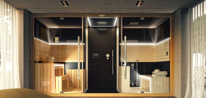 un jacuzzi multifonctions - Salle De Bain Avec Sauna