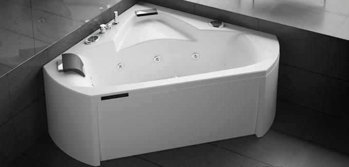 Baignoire balneo aubade cool baignoire balno avec systme for Baignoire d angle aubade