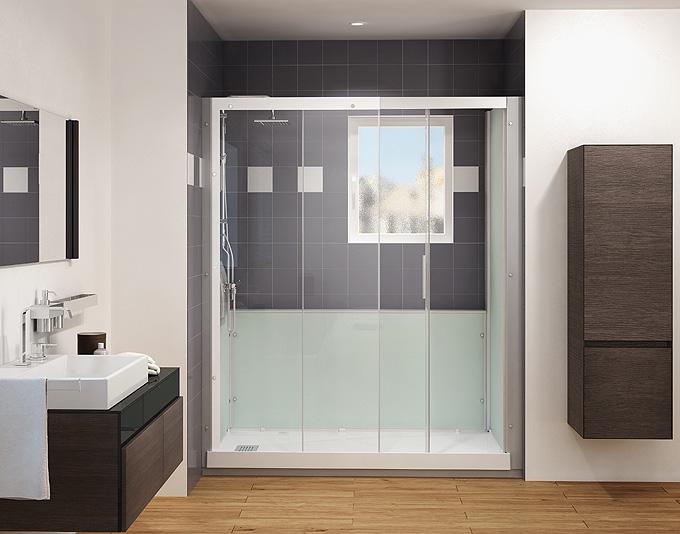 Nouveaut s salle de bains kinedo douche paroi d co for Hauteur baignoire encastrable