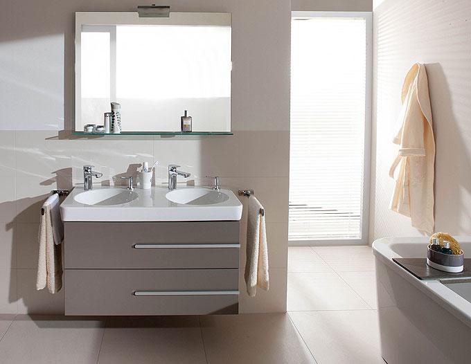 Salle de bains modulable villeroy boch joyce d co for Carrelage villeroy et boch salle de bain