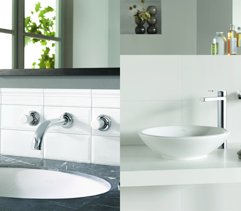 Villeroy boch robinets just et lafleur d co salle de for Villeroy et boch salle de bain showroom