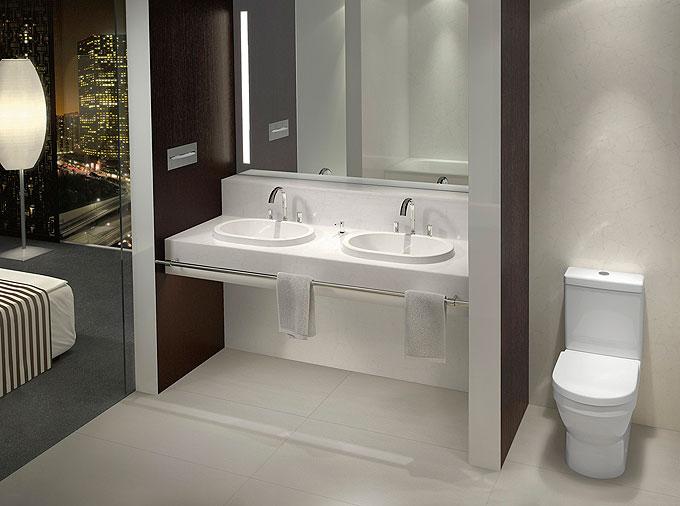 Sanitaires Architectura dans un hôtel