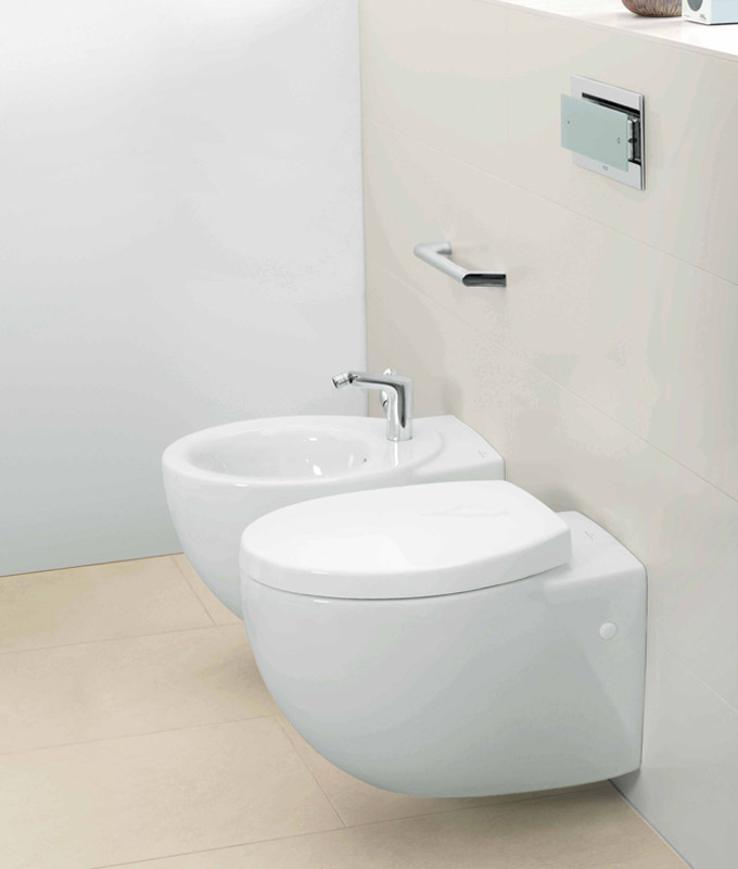 WC suspendu et bidet Villeroy & Boch Aveo