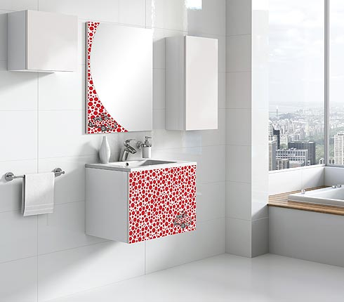 Mobilier de salle de bains lebana de tau grupo deco for Mobilier pour salle de bain