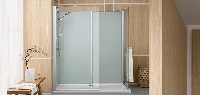 remplacer sa baignoire par une douche avec leda deco. Black Bedroom Furniture Sets. Home Design Ideas