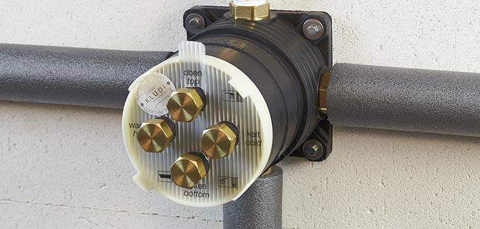 Flexx boxx bo tier flexible encastr de kludi d co for Poser un robinet auto perceur