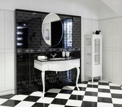 tendance du moment la salle de bain en noir et blanc blog deco salle de bain. Black Bedroom Furniture Sets. Home Design Ideas