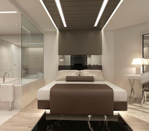 Salle de bain dans une chambre coucher blog d co salle for Baignoire dans chambre a coucher