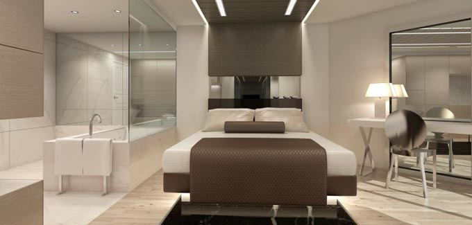 Salle de bain dans une chambre coucher blog d co salle for Plan chambre a coucher avec dressing et salle de bain
