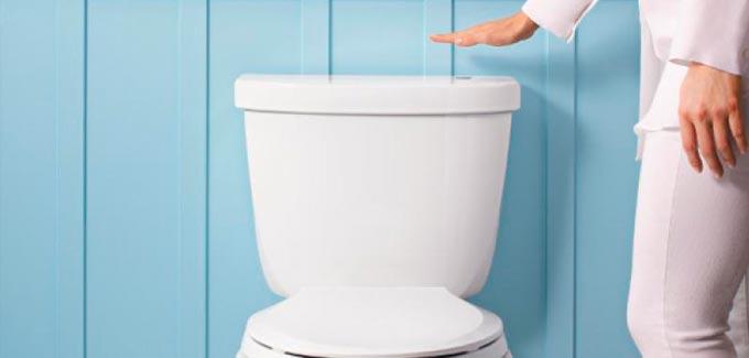 Chasse d'eau sans les mains