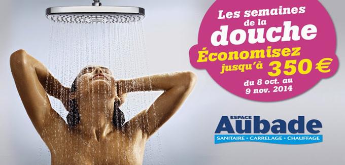Les semaines de la douche d'Espace Aubade