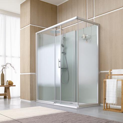 Douche tout en un leda access d co salle de bains - Deco salle de douche ...