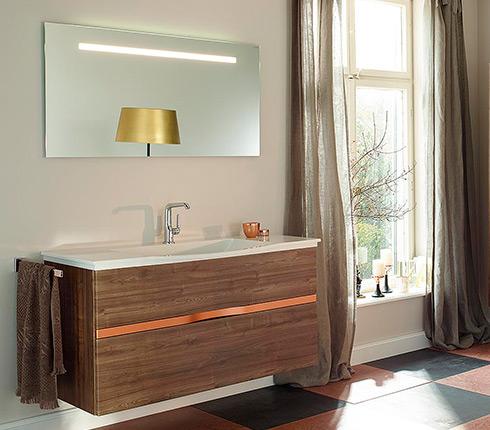 du cuivre dans la salle de bain d co salle de bains. Black Bedroom Furniture Sets. Home Design Ideas