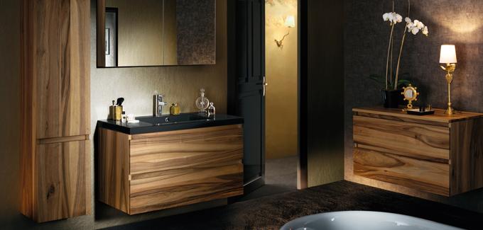meuble salle de bain sanijura lignum noyer d co salle de bains. Black Bedroom Furniture Sets. Home Design Ideas