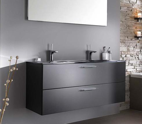 Salle de bain grise : inspiration déco | Déco Salle de Bains