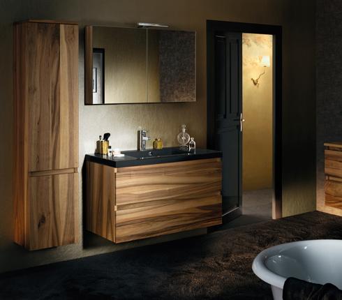Meuble salle de bain sanijura lignum noyer d co salle de bains - Meuble de salle de bain sanijura ...