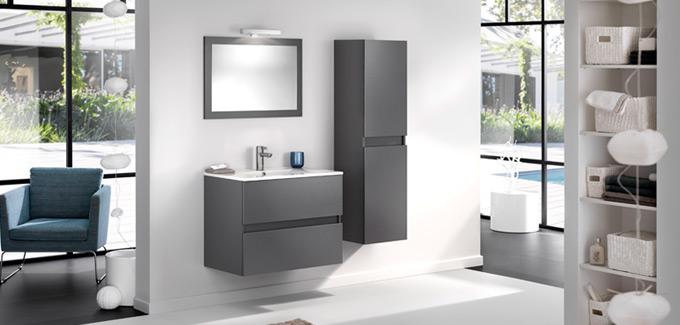 meubles suspendus salle de bains Delpha