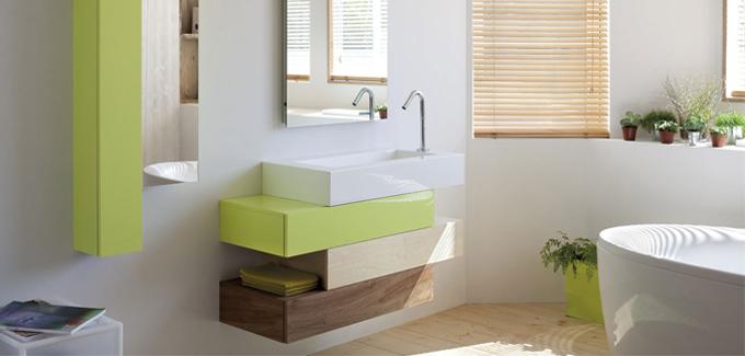meuble salle de bains bois acrylique