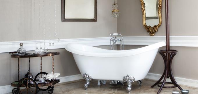 La baignoire pattes de lion pour une salle de bains vintage | Déco ...