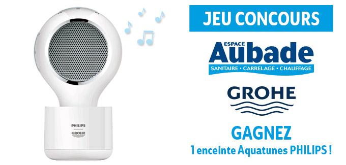 Opération Aquatunes de Grohe et Espace Aubade