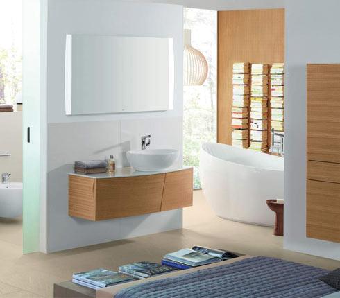 une salle de bains cologique en bois d co salle de bains. Black Bedroom Furniture Sets. Home Design Ideas