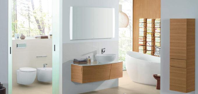 Une salle de bains cologique en bois d co salle de bains - Salle de bain nature bois ...