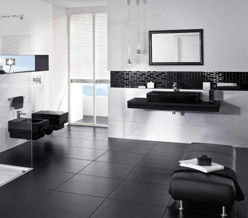 Des WC design et modernes en noir et blanc