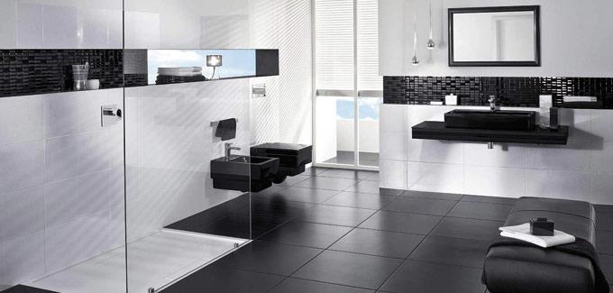 La salle de bain en noir et blanc | Déco Salle de Bains