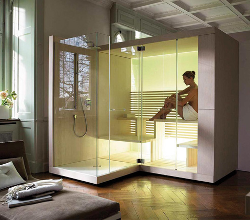 installer un sauna domicile d co salle de bains. Black Bedroom Furniture Sets. Home Design Ideas