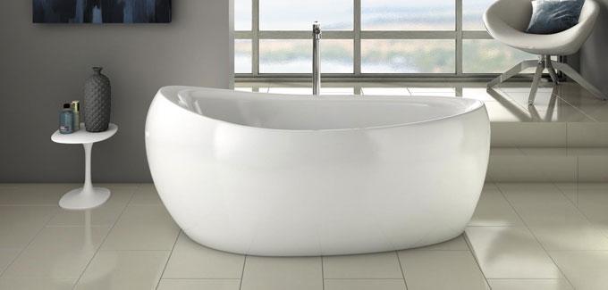 Baignoire lot 4 mod les de r ve d co salle de bains for Baignoire ilot oeuf