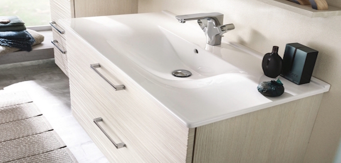 meuble salle de bains delpha unique onde