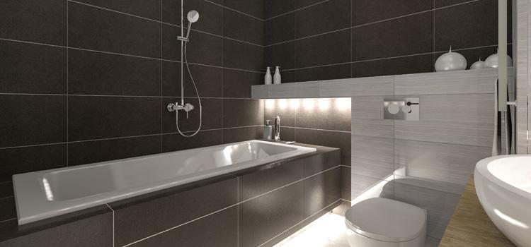 La salle de bains noire