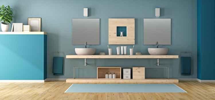 la mer dans la salle de bains image d'ambiance