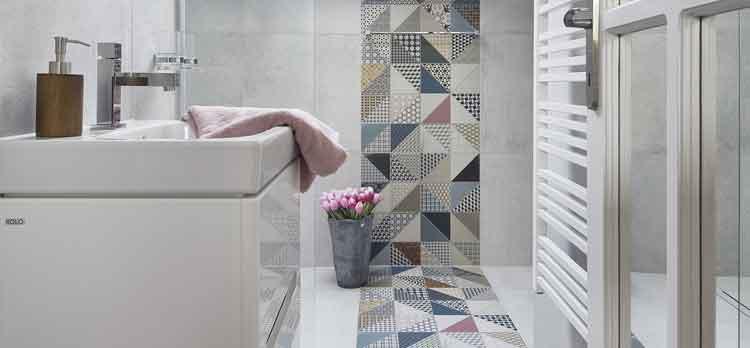 Image d'ambiance couleur dans la salle de bains