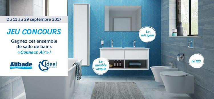 Jeu-concours pour gagner une salle de bains Connect Air