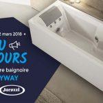 Jeu Concours Espace Aubade x Jacuzzi : Gagnez votre baignoire balnéo