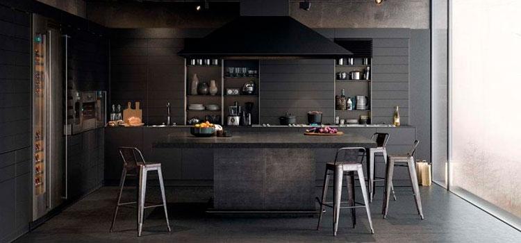 Différentes ambiance avec une cuisine noire