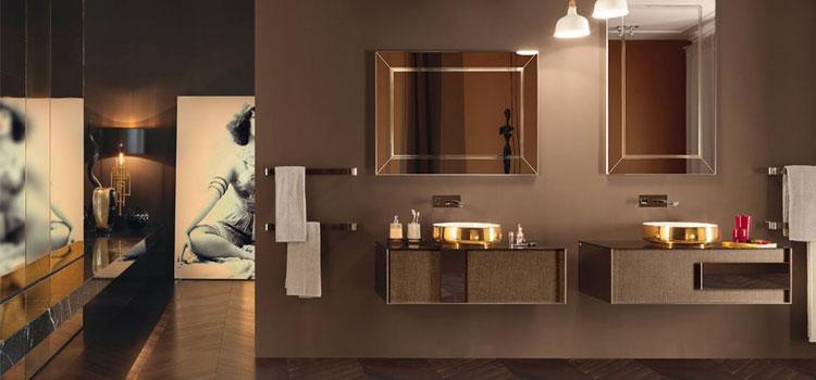 Salle de bains déco oxydée collection Qamar de Inda