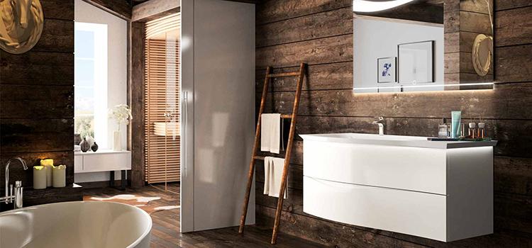 Salle de bains mêlant rétro et design contemporain dans un style campagne chic