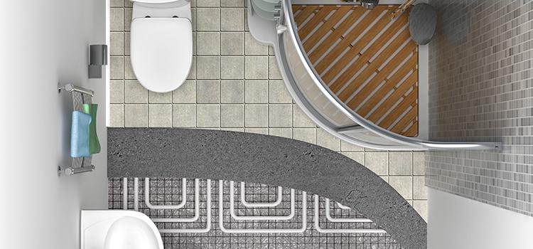 Les dessous du plancher chauffant dans la salle de bains