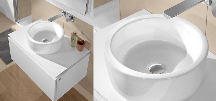 Vasque ronde à poser ou à encastrer Villeroy & Boch Architectura