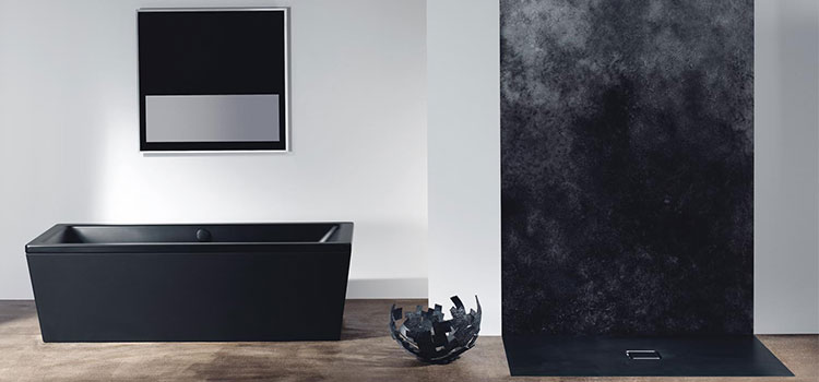 Receveur ultra-plat dans salle de bain