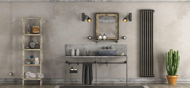 Salle de bain au style rétro vintage
